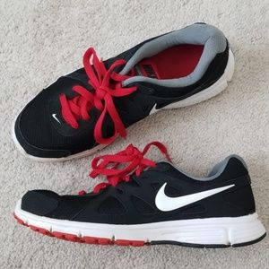 Nike black and red sneakers